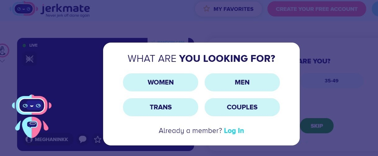 Choose From Women Men Trans And Couples On JerkMate