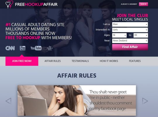 Free Hookup Affair Is One of the Best Affair Sites