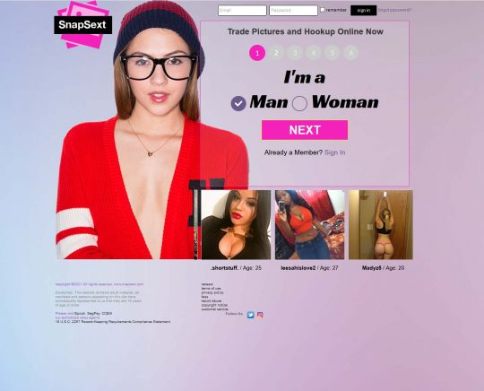 SnapSext a Dating Site For Hookups and Exchanging Snaps From All Genders