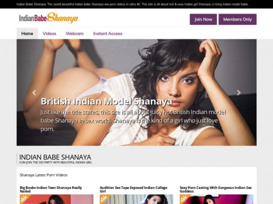 Indian Babe Shanaya The Sexy Indian Models 4K Pay Site