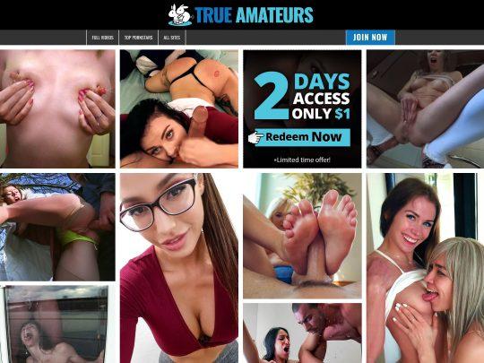True Amateurs Premium Amateur Porn Site