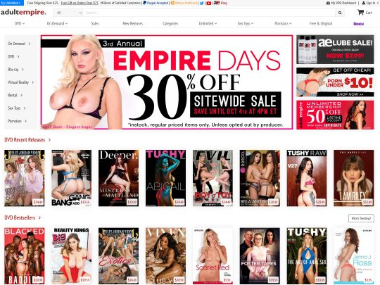 AdultEmpire One of The Leading Empires In The Adult Industry